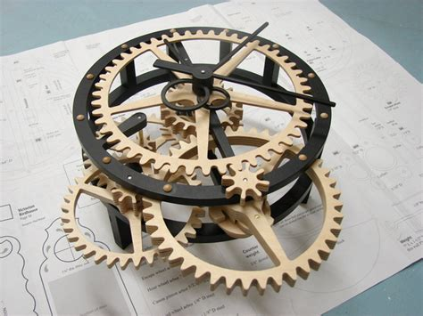 wooden clock plans dxf   build diy woodworking