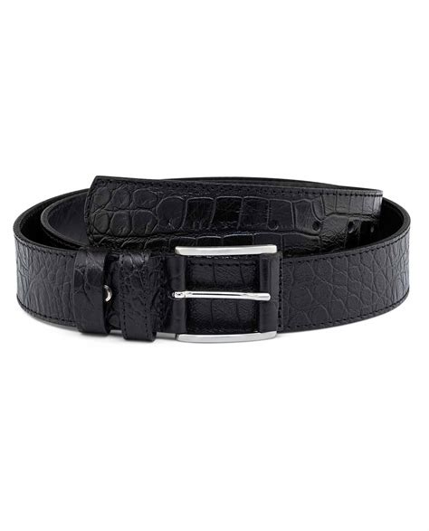 Belt Croco buy black thick leather belt croco emboss free shipping