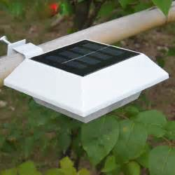 gutter solar lights outdoor solar powered roof eaves lamp 4 led wall garden