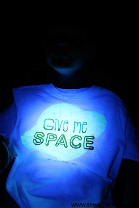 glow in the paint t shirt glow in the fabric paint tutorial sew what