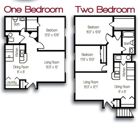 Appartment Floor Plans | floor plans worthington ridge apartments