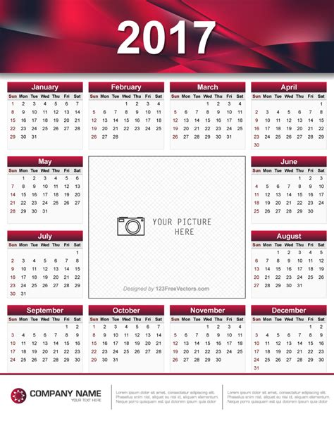 design calendar schedule printable 2017 calendar design 123freevectors