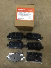 genuine oem honda odyssey rear brake pad set 2002 2004