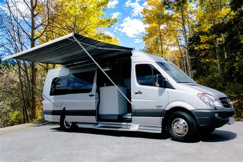 sportsmobile awning exterior van options for your custom van conversion