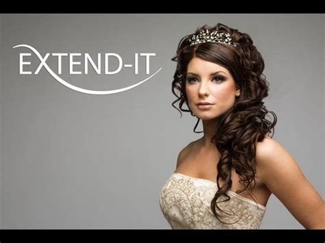 how to do a bridal look with extend it clip in extensions pt 1 2