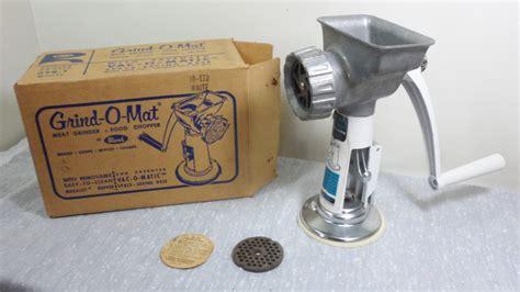 Grind O Mat vintage rival grind o mat grinder food chopper w vac