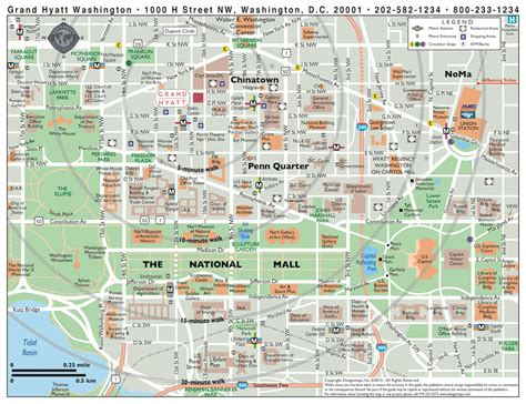 washington dc on a map washington dc map of attractions