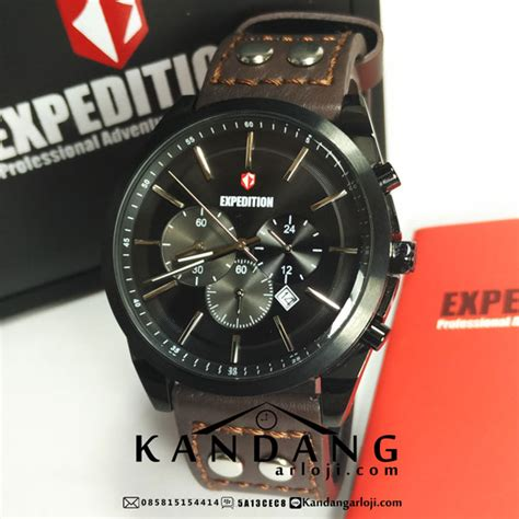 harga jam tangan expedition e6655m black brown murah