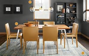 cass table with sava leather chairs modern dining room
