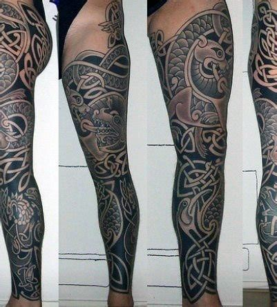 full thigh tattoo designs 40 celtic sleeve designs for manly ink ideas