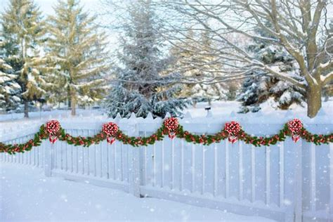 images of christmas garland on a fences garland free pictures on pixabay