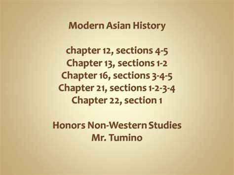 modern history chapter 12 sections 4 5 chapter 13