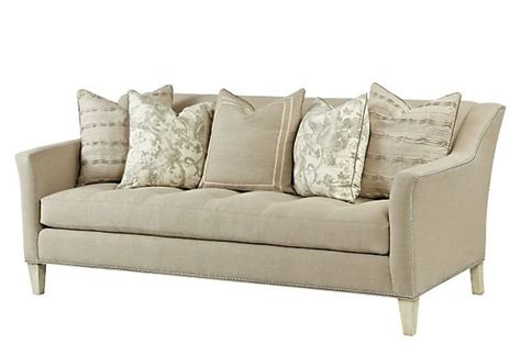 one kings lane sofas parson 90 quot linen sofa flax king products and one kings