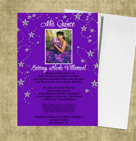 quinceanera invitation templates quinceanera invitations
