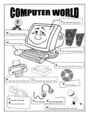 esl kids worksheets computer world
