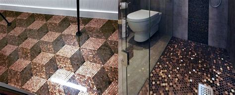 Top 60 Best Penny Floor Design Ideas   Copper Coin Flooring
