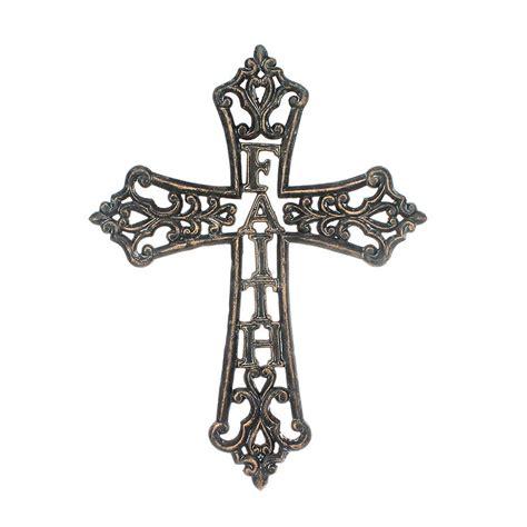 Rustic Wholesale Home Decor Cast Iron Faith Wall Cross