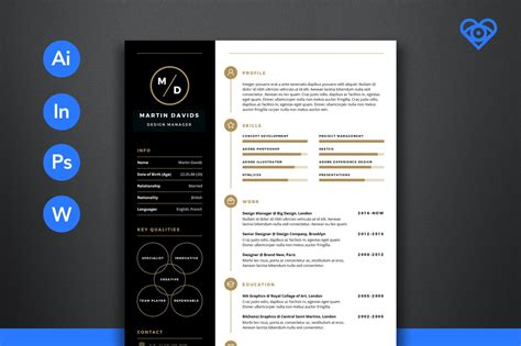 resume template design 50 best cv resume templates of 2018 design shack