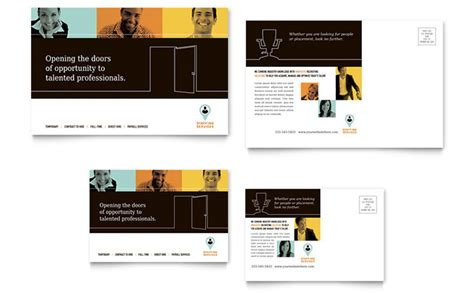 business postcards templates free recruiter postcard template design