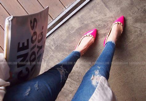 Garetha Studs Glossy Flats Shoes flatshoenista a flat shoe lover s fashion style