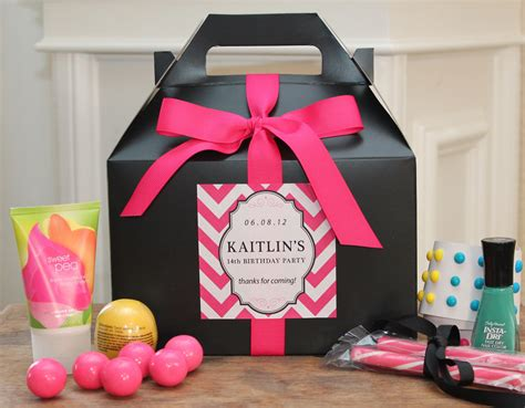 Sweet 16 Party Giveaways - set of 6 teen party favor box sweet 16 party favor box
