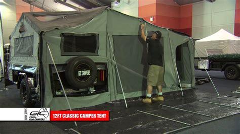series trailer gic cers 12ft deluxe cer tent setup