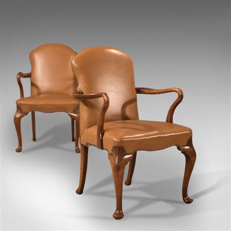 pair armchairs antique pair of armchairs edwardian leather chair