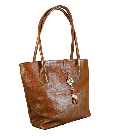 city charm genuine leather handmade bag with charm