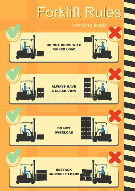 safety sign clipart and stock illustrations 145 171 forklift safety rules stock vector illustration of