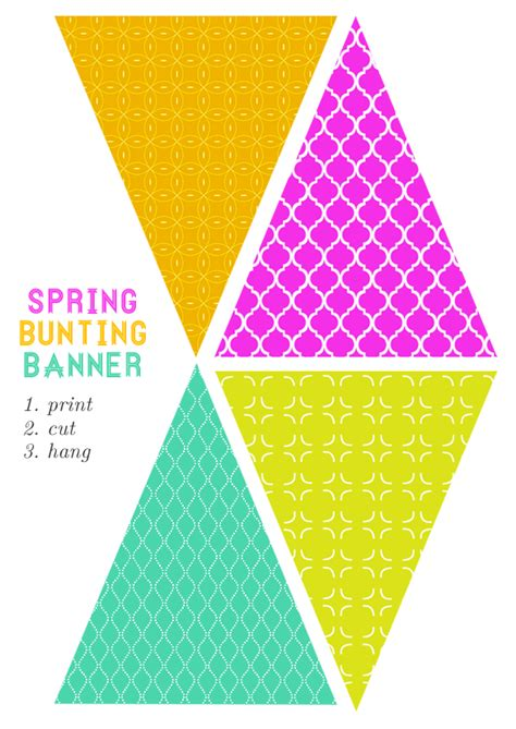 printable bunting flags free printable bunting banner party planning pinterest