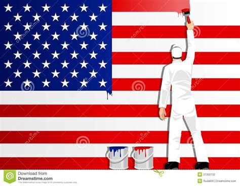 painting the flag of usa stock photography image 21350132