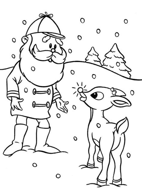 santa and rudolph coloring page new calendar template site