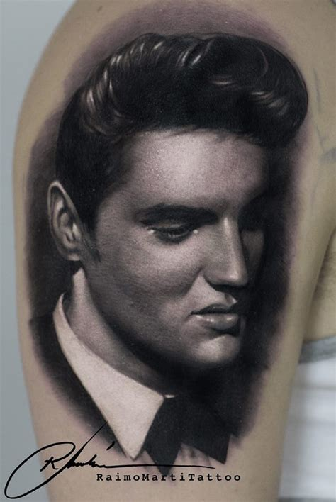 elvis tattoo designs realistic elvis portrait best design ideas