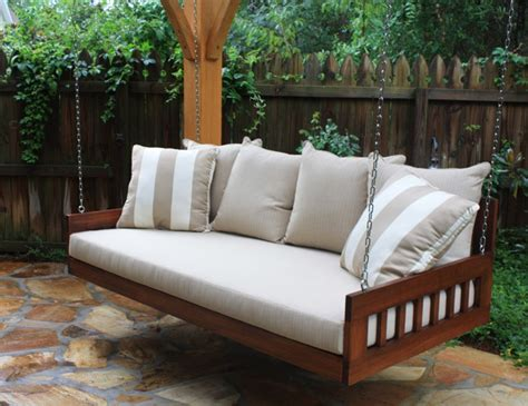 porch swing bed mattress 39 relaxing outdoor hanging beds for your home digsdigs