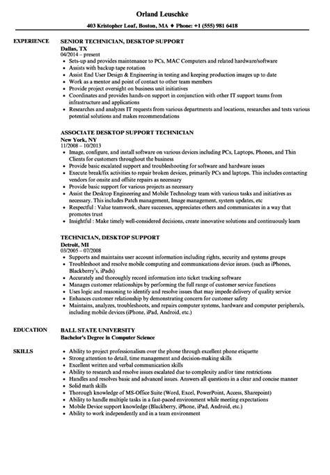wonderful resume desktop support technician gallery