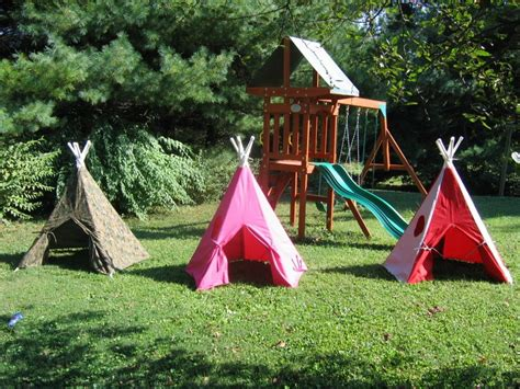 backyard teepee tent children s indoor outdoor teepee custom made