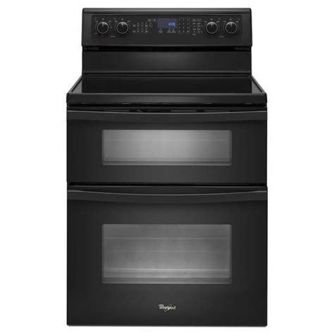 Stove With Oven shop whirlpool 30 in smooth surface 5 element 4 2 cu ft 2 5 cu ft self cleaning oven