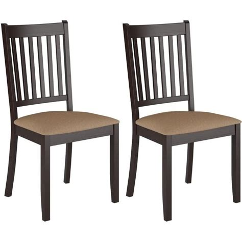stained dining chair in cappuccino set of 2 dat 295 c