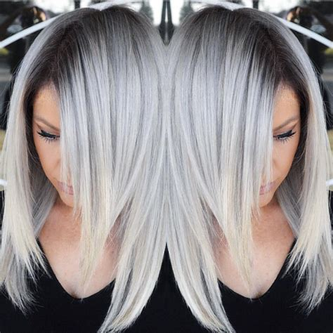 color design hair color stunning multidimensional silver hair color design with
