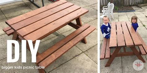 build   bigger kid picnic table  pinspire