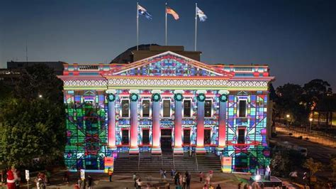 darryn lyons lights up geelong s city hall geelong