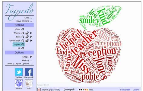 colour themes for tagxedo how to make a teacher s thank you card using tagxedo