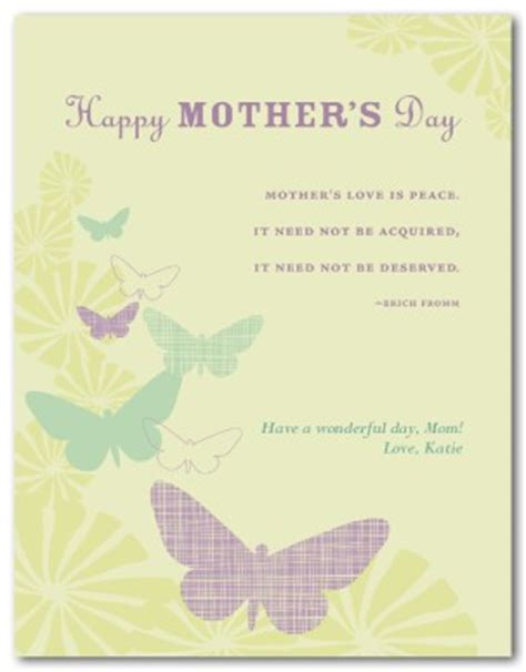 mothers day cards template word printable mothers day butterfly card template