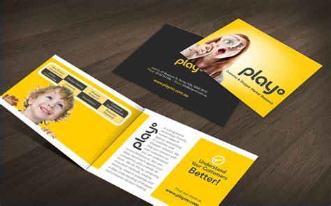 contemporary flyer design modern upmarket it company brochure design for play mr