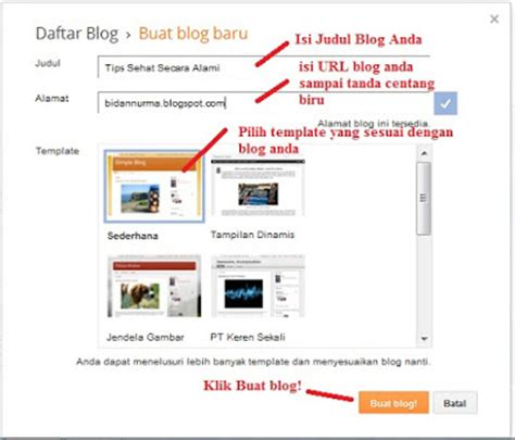 tips membuat blog cara membuat blog gratis di blogger com