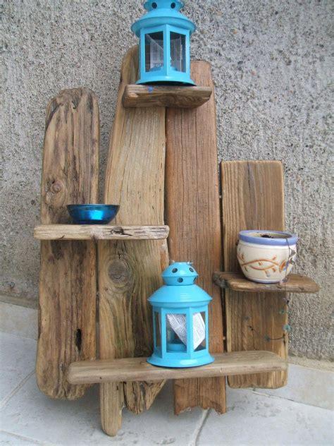 oggetti per mensole mensole portaoggetti realizzate con assi di riciclo per