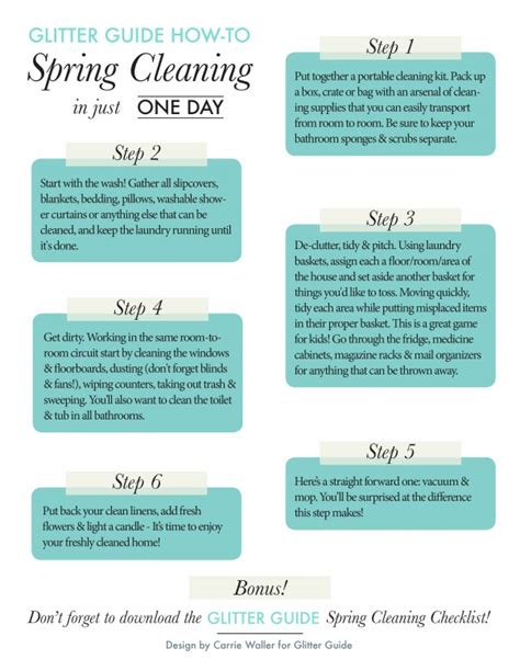 How To Do Spring Cleaning | how to spring cleaning in one day theglitterguide com