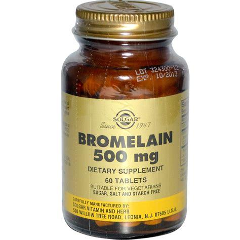 Suplemen Bromelain solgar bromelain 500 mg 60 tablets iherb