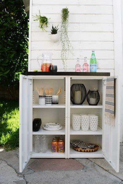 outdoor buffet cabinet 19 bodacious backyard storage ideas tips hacks you need to try