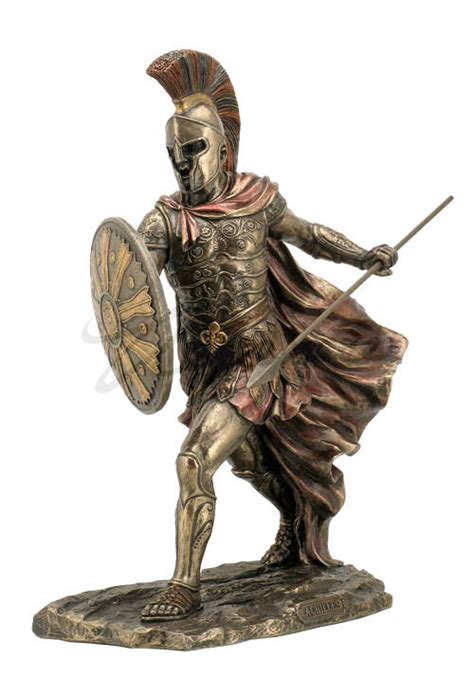 greek god statues achilles statue with sword and spear gladiator